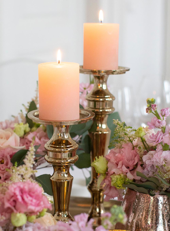 Kerze Blush Rose